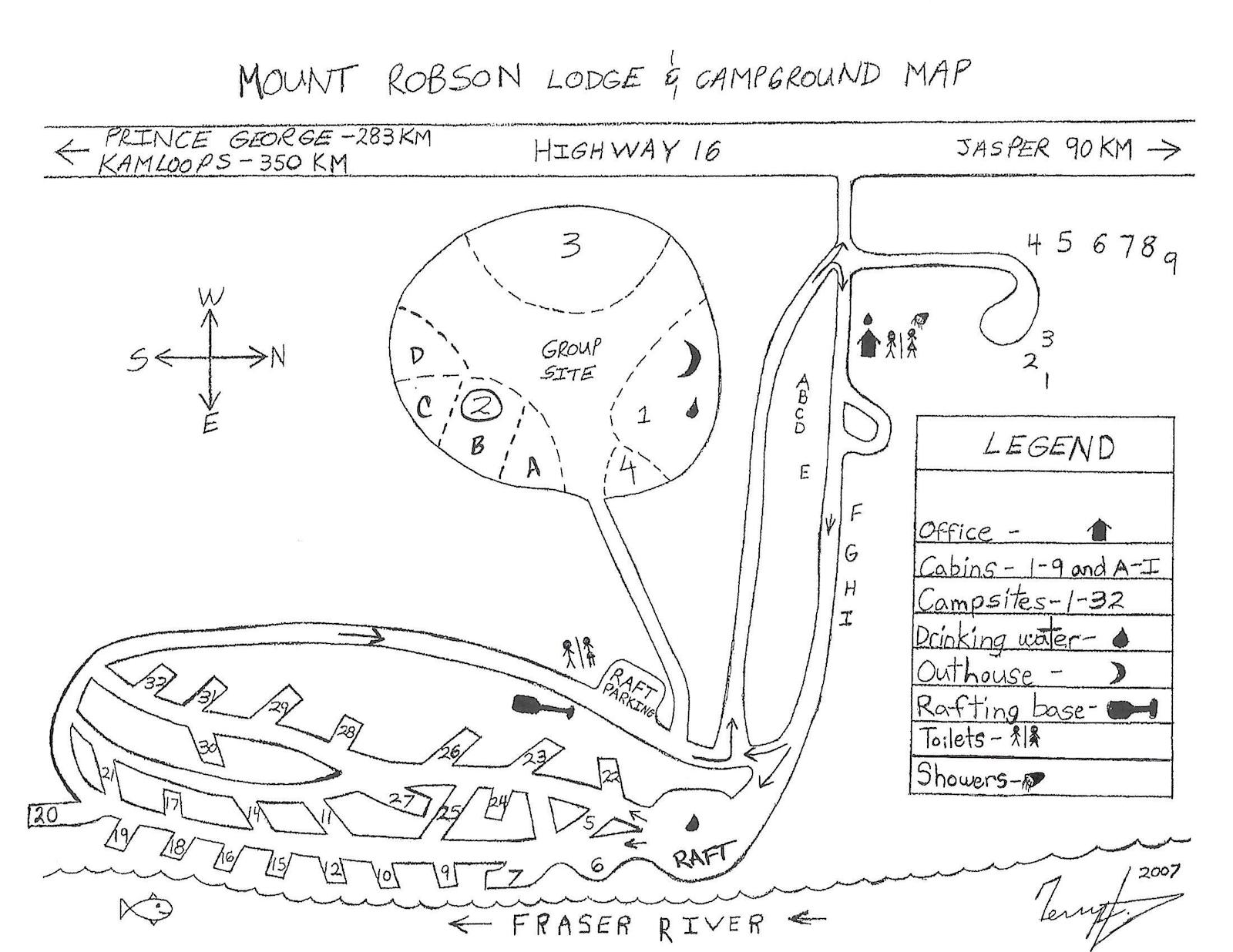 Mount_Robson Lodge Site Map